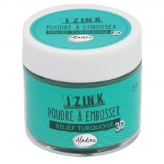 Izink Embossing Powder - Relief Turquoise