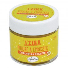 Izink Embossing Powder - Citronella Paillete
