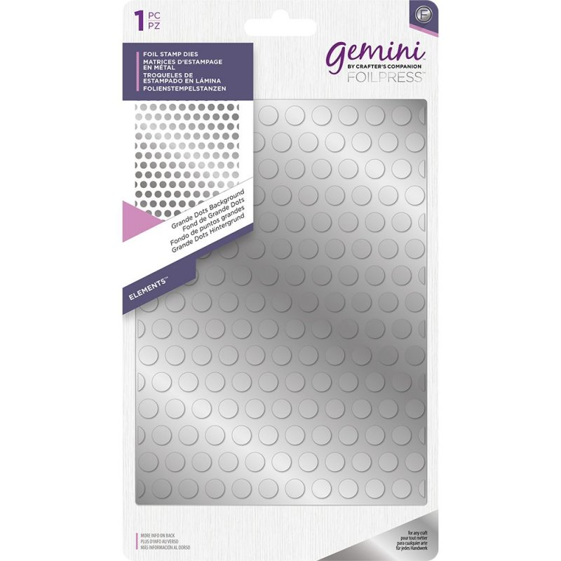 Grande Dots Elements Crafter/'s Companion Gemini Hot Foil Stamp Die