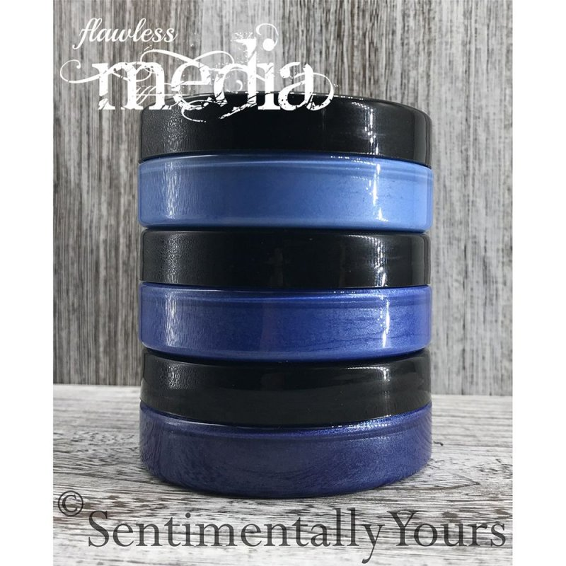 Phill Martin Sentimentally Yours Phill Martin - Sentimentally Yours - Flawless Media - Ombre Blending Paste - Blues Set