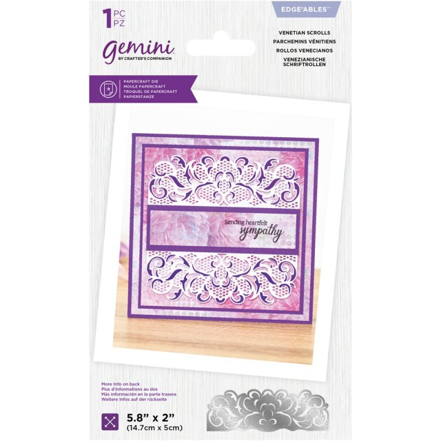 Crafters Companion Gemini - Lace Edgeables Die - Venetian Scrolls